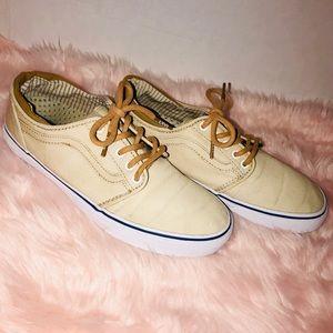 Vans tan canvas sneakers